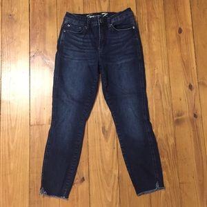 Seven7 Frayed Skinny Jeans